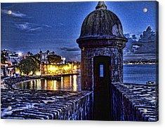 Viejo San Juan En La Noche Acrylic Print by Daniel Sheldon