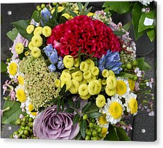 Vienna Bouquet Acrylic Print by Kay Gilley