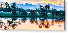 Viera Sunrise Scene 3 Acrylic Print