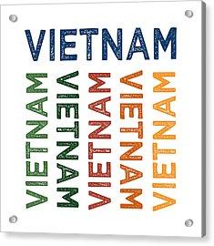 Vietnam Cute Colorful Acrylic Print