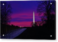 Vietnam Memorial Sunrise Acrylic Print by Metro DC Photography