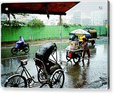 Vietnam Rainy Saigon Acrylic Print
