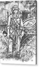 Vietnam Soldier Acrylic Print