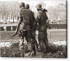 Vietnam Veterans Memorial - Washington Dc Acrylic Print by Mike McGlothlen