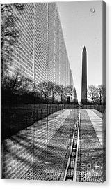 Acrylic Print featuring the photograph Vietnam War Memorial Washington Dc by John S