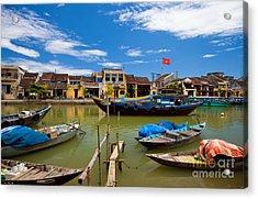 Vietnamese Boats In Hoi An Vie Acrylic Print by Fototrav Print