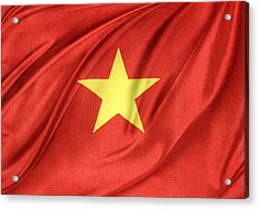 Vietnamese Flag Acrylic Print by Les Cunliffe