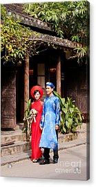 Vietnamese Wedding Couple 01 Acrylic Print by Rick Piper Photography