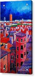 Vieux Lyon Rooftops  Acrylic Print by Mona Edulesco