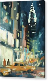 View Across 42nd Street New York City Acrylic Print