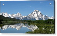 View At Oxbow Bend In Grand Tetons National Park Acrylic Print