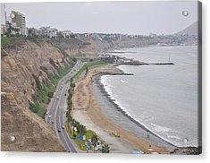 View At The Beach And The Circuito De Playas Acrylic Print by Markus Daniel