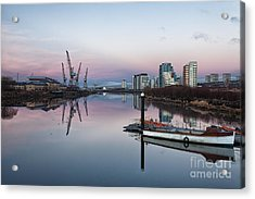 View Down The Clyde. Acrylic Print by John Farnan