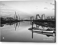 View Down The Clyde Mono Acrylic Print by John Farnan