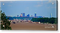 View From A Far St. Louis Downtown Acrylic Print by Peggy Franz