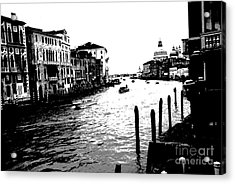 View From Accademia Bridge Acrylic Print by Jacqueline M Lewis