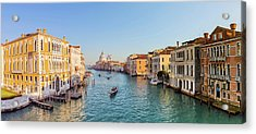 View From Accademia Bridge On Grand Acrylic Print by Dietermeyrl