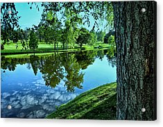 View From Accross The Lake Acrylic Print by Tom Mc Nemar