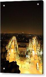View From Arc De Triomphe - Paris France - 01131 Acrylic Print by DC Photographer
