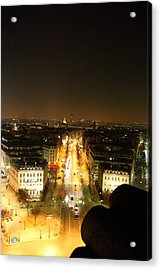 View From Arc De Triomphe - Paris France - 011310 Acrylic Print by DC Photographer