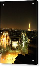 View From Arc De Triomphe - Paris France - 011311 Acrylic Print by DC Photographer