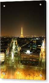 View From Arc De Triomphe - Paris France - 011313 Acrylic Print by DC Photographer