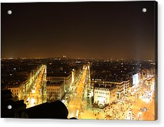 View From Arc De Triomphe - Paris France - 011315 Acrylic Print by DC Photographer