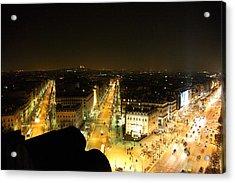 View From Arc De Triomphe - Paris France - 011316 Acrylic Print