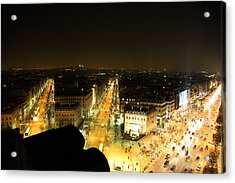 View From Arc De Triomphe - Paris France - 011317 Acrylic Print by DC Photographer