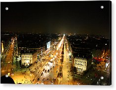 View From Arc De Triomphe - Paris France - 011318 Acrylic Print by DC Photographer