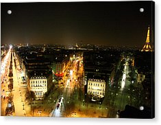 View From Arc De Triomphe - Paris France - 011321 Acrylic Print by DC Photographer
