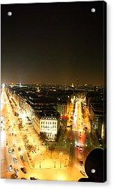 View From Arc De Triomphe - Paris France - 01138 Acrylic Print by DC Photographer