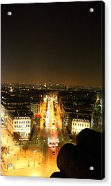 View From Arc De Triomphe - Paris France - 01139 Acrylic Print