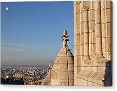 View From Basilica Of The Sacred Heart Of Paris - Sacre Coeur - Paris France - 01131 Acrylic Print by DC Photographer