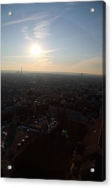 View From Basilica Of The Sacred Heart Of Paris - Sacre Coeur - Paris France - 011313 Acrylic Print by DC Photographer