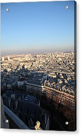 View From Basilica Of The Sacred Heart Of Paris - Sacre Coeur - Paris France - 011326 Acrylic Print by DC Photographer