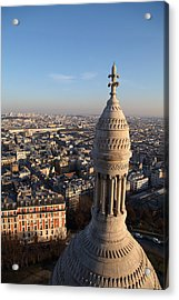 View From Basilica Of The Sacred Heart Of Paris - Sacre Coeur - Paris France - 011332 Acrylic Print by DC Photographer