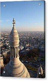 View From Basilica Of The Sacred Heart Of Paris - Sacre Coeur - Paris France - 011334 Acrylic Print