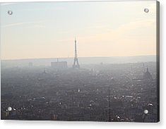 View From Basilica Of The Sacred Heart Of Paris - Sacre Coeur - Paris France - 01137 Acrylic Print by DC Photographer