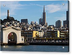 View From Bay Acrylic Print by Bernard  Barcos