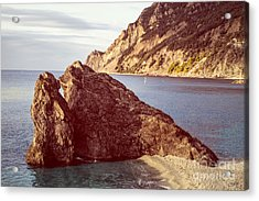 View From Beach Of Monterosso Acrylic Print