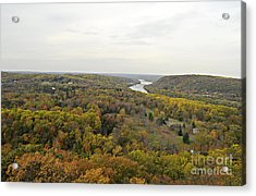 View From Bowman's Tower North Acrylic Print by Addie Hocynec