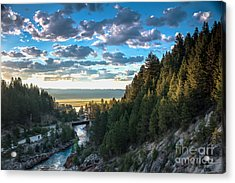 View From Cascade Dam Of The North Fork Of The Payette River Acrylic Print by Robert Bales