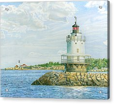 View From Casco Bay Ferry Acrylic Print by Dominic White