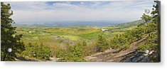View From Dorr Mountain Over Great Meadow Acadia National Park Maine Acrylic Print by Keith Webber Jr