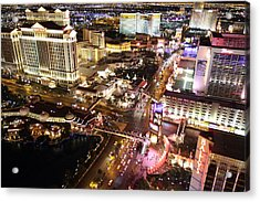 View From Eiffel Tower In Las Vegas - 01131 Acrylic Print by DC Photographer