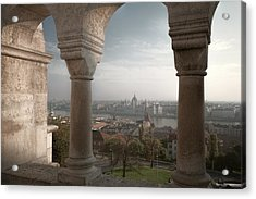 View From Fishermans Bastion Acrylic Print