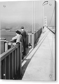 View From Golden Gate Bridge Acrylic Print by Underwood Archives