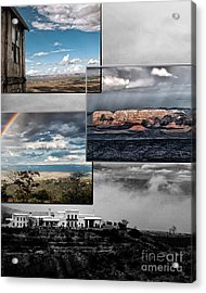 View From Jerome Acrylic Print by David Mendoza