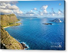 Acrylic Print featuring the photograph View From Makapuu Point by Aloha Art